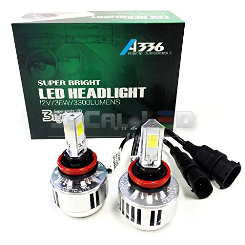 SOCAL-LED H11 (H9 H8) 72W 3Light Automotive LED Bulbs Headlight Conversion Kit 6000K Xenon White Halogen/HID Replacement (H11 Led Headlight Kit Bulb 6000k compare prices)