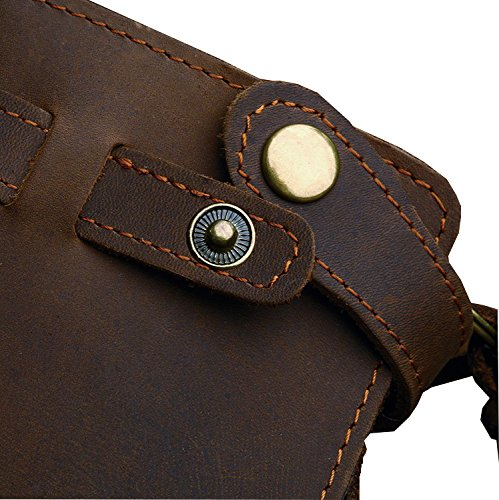 Horse Noise - Long Biker Wallet From Crazy Horse Leather with Leather Security Chain Vintage 3