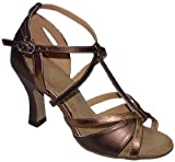 Brown Latin dancing shoes for lady 2.5