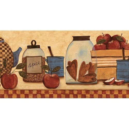 primitive wallpaper border for kitchen -#main