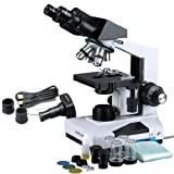AmScope B490B-M Compound Binocular Microscope 40X-2000X + 1.3 MP Camera (Tamaño: 1.3MP High resolution USB camera)