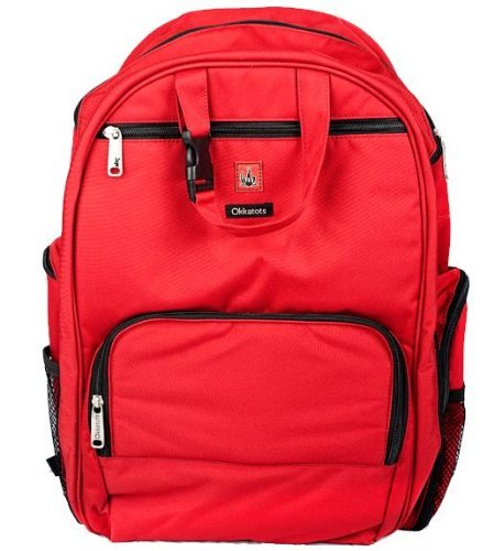 Travel Baby Depot Bag / Travel Diaper Backpack in Cranberry Red