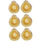 Diwali Gift - Set Of 6 Gold Plated Diya (attractive, Resuable, Washable, Metallic)- Anupam Golden Diya / Deepak...