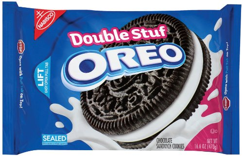 Oreo Double Stuff Oreo Cookie, 16.6-Ounce Packages (Pack of 4)