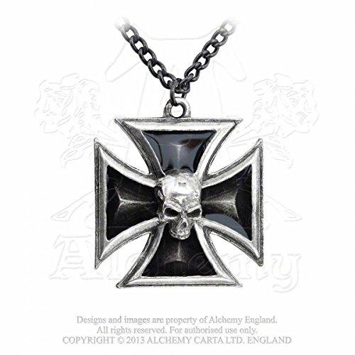 Alchemy Gothic (Metal-Wear) Croce Di Cavaliere Nero Per
