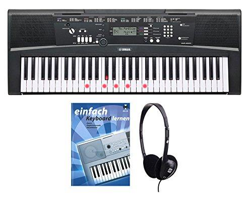 Yamaha EZ-220 Keyboard SET inkl. Kopfhörer und Schule (61 Tasten, 392 Klangfarben, 100 Begleitstyles, Lernfunktion, Yamaha Education Suite inkl. Netzteil, Noten)