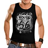 Wellcoda Biker Americas 66 Route Highway Historical Ride Mens Sleeveless T-Shirt NEW Top Tank 100% Cotton Vest S-2XL Size