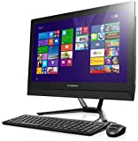 Lenovo C40-05 21.5-Inch All-in-One Touchscreen Desktop (AMD A6 1.8 GHz, 8GB DDR3 RAM, 1TB Hard Drive, DVDRW, Windows 8.1) - F0B5000JU