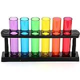 IGGI Neon Kunststoff Reagenzglasaufnahme Shooters Gläser mit Stand - Lila