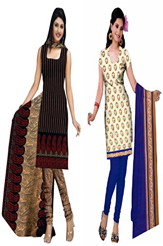 Araham soft crepe / American crepe dress material / unstitched Salwar Suit pack of 2 combo No 503