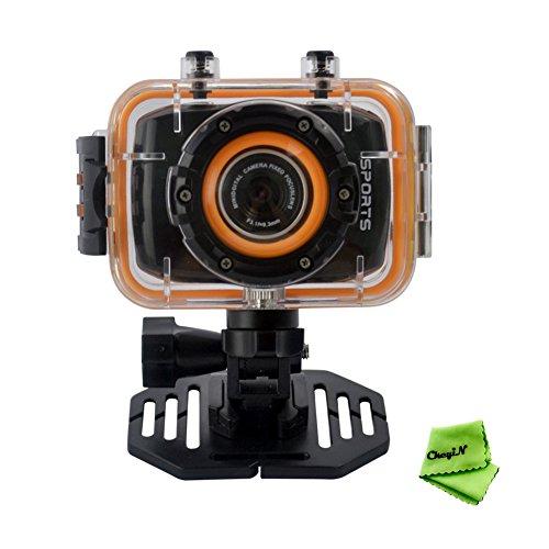 """Ckeyin ® FHD 1080P 2"""" lcd tactile étanches casque sport caméra vidéo digital action cam dv dvr caméscope pour vélo/plongée/surf/ski,/parachutisme"""