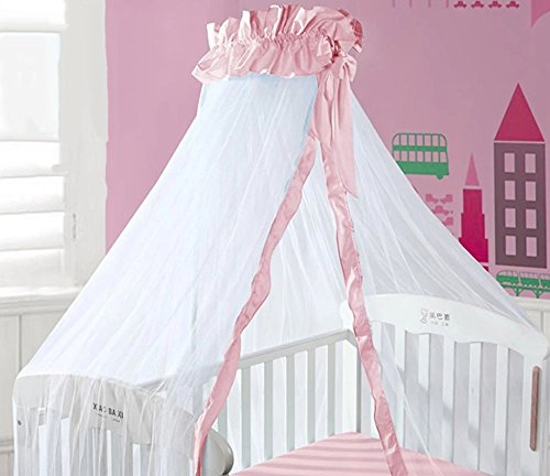 Pink Baby Canopy / Mosquito Net No Drilling No Screwing front-856310