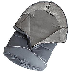 TecTake Saco de invierno dormir térmico para carrito silla de bebé universal abrigo polar gris marca TecTake en BebeHogar.com