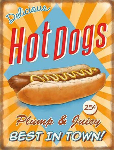 delicious-hot-dogs-sausage-in-a-finger-roll-food-retro-old-vintage-advertising-sign-for-kitchen-bar-