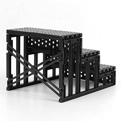 femor 3 etapes escalier pour chien chat echelle rampe beige portable escalier d animal. Black Bedroom Furniture Sets. Home Design Ideas
