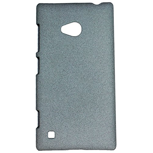 Heartly QuickSand Matte Finish Hybrid Flip Thin Hard Bumper Back Case Cover For Nokia Lumia 720 - Retro Grey