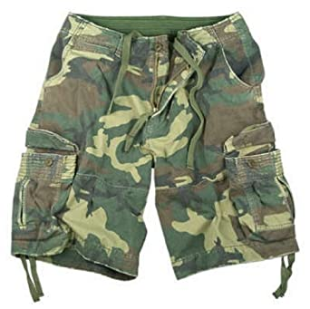1348a5bbb0899 Woodland Camouflage Vintage Military Tactical Infantry Utility Shorts
