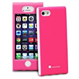 GreatShield FUSION Series Shock-Proof SLIM Case for Apple iPhone 5 (Pink & White)