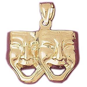 CleverEve's 14k Gold Charm Drama Masks 4 - Gram(s)