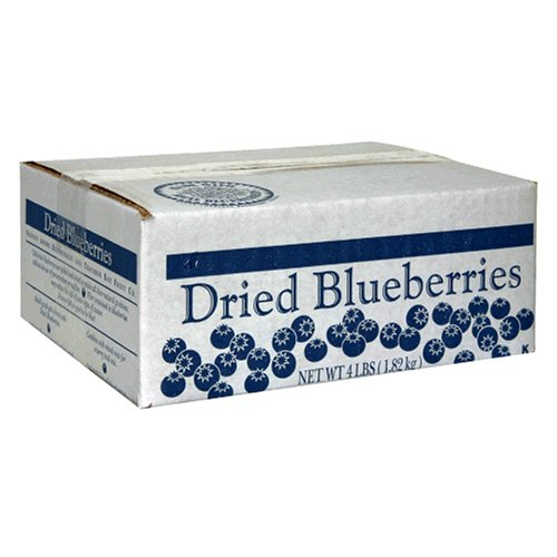 Traverse Bay Dried Blueberries, 4-Pound Box