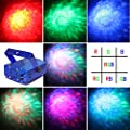 Vnina party lights 7 color dynamic ocean moving effect led stage lighting with remote control(blue)