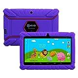 Contixo Kids Safe 7″ Quad-Core Tablet 8GB, Bluetooth, Wi-Fi, Cameras, 20+ Free Games, HD Edition w/ Kids-Place Parental Control, Kid-Proof Case (Purple)