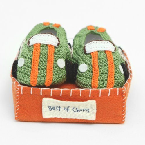 Best of Chums Baby Crochet Bootie Race Car