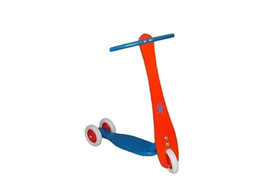 Scooter multicolore, jusqu'à 50 kilogrammes du scooter en bois de scooter d'enfant de 63 x de 63 x de 30 cm
