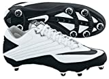 Nike 396238101 Super Speed D Men's Football Cleats (White/Black)