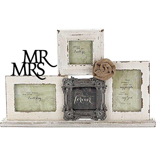 Tabletop Photo Collage Frame - Mr & Mrs/Together Forever