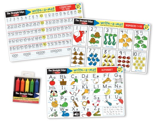 Melissa & Doug Alphabet / Numbers Placemat Bundle