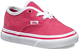 Vans Toddlers Authentic (Pop Binding) Claret Red/True White VN0001T0IHP Toddl...