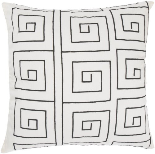 Rizzy Home T-3574 18-Inch By 18-Inch Decorative Pillows, Off White/Black, Set Of 2 front-1010615