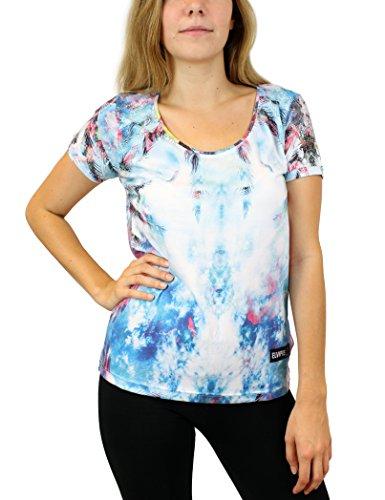 Eleven Paris - Hocean W, T-shirt da donna,  manica corta, Multicolore(mehrfarbig (olocan print pr156)), L