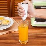 CANIS 電動クリーマー 手持ち柄 攪拌器 卵 ミルク コーヒー ジェース バター 粉 クリーマー (ホワイト)