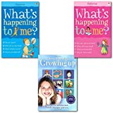 Alex Frith What Happening to me fact of life Growing up 3 Books Collection Set, (Usborne Facts of Life, Growing Up (All about Adolescence, body changes and sex), What's Happening to Me? (Girls Edition) (Facts of Life) AND What's Happening to Me?: Boy)