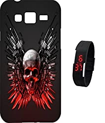 BKDT Marketing Printed back cover for Samsung Galaxy Tizen Z1 with Digital Watch