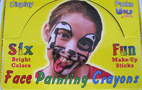 12 FACE PAINTING CRAYONS STICKS MAKEUP DISGUISE CARNIVAL PARTY HALLOWEEN COSTUME (Darth Maul Face Paint)