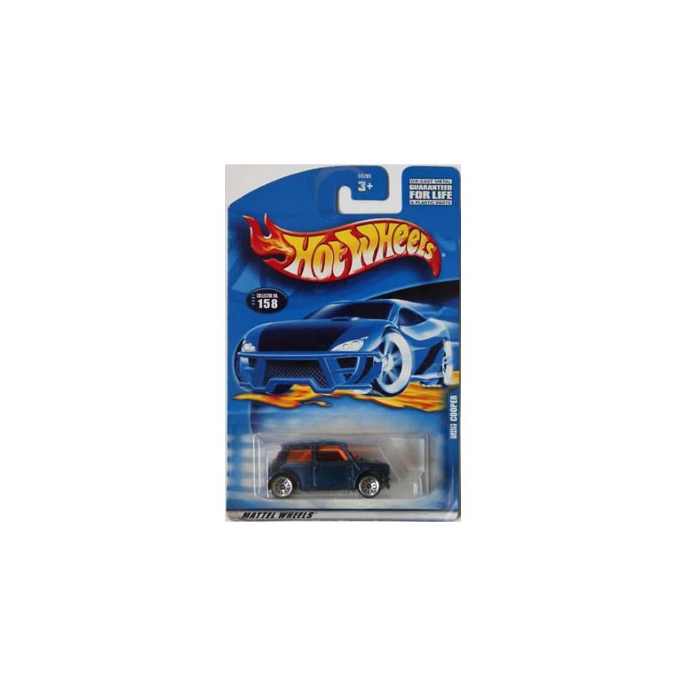 Mattel Hot Wheels 2001 164 Scale Blue Mini Cooper Die Cast Car #158