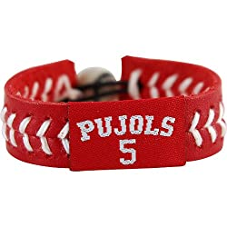 MLB Albert Pujols Team Color Jersey Bracelet