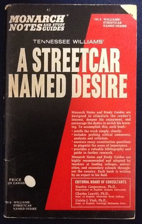 Tennessee Williams' a Streetcar Named Desire (Monarch notes)