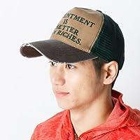 カスターノ(CASTANO) 帽子(プリントロゴメッシュキャップ)