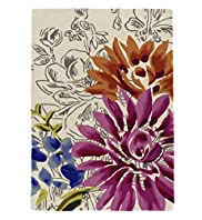 Bold Sketch Floral Rug