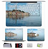 10 PCS Macbook Pro/Air 11 13 15 Inch Skin Decal - City Croatia Sea Blue Images Calm Sky Clouds