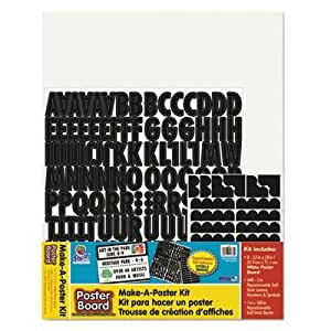 Amazoncom pacon 4 pack make a poster board kit 22 for Posterboard letters