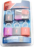 Safe Skies Family 4 Pack TSA-Approved Padlocks