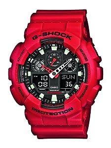 Casio G-Shock Ana/Digi Herren Uhr Rot GA-100B-4AER