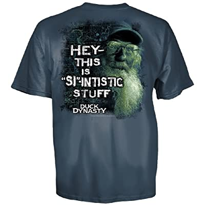 Duck Dynasty Uncle Si Hey-this Is Si-intistic Stuff Youth T-shirt Harbor Blue Small