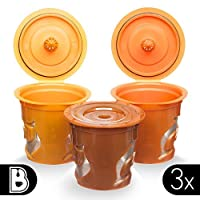Brewooze - Reusable cups, Refillable Pods , compatible with Keurig 1.0 and 2.0 Brewers, Cuisinart and most individual cup brewers