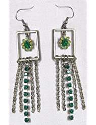 Jhalar Earring - Stone And Metal